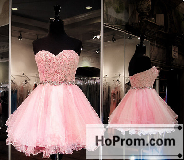 Pink Sweetheart Short Mini Prom Dresses Homecoming Dresses
