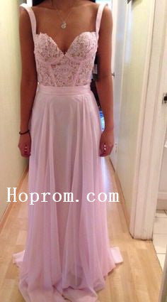 A-Line Chiffon Prom Dresses,Pink Prom Dress,Evening Dress