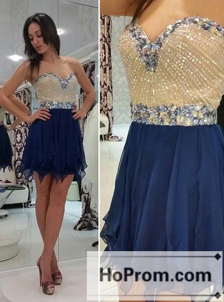 Sweetheart Beading Short Mini Prom Dresses Homecoming Dresses