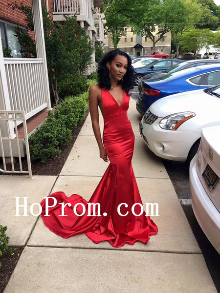 Sexy Satin Prom Dresses,Red Long Prom Dress,Evening Dress