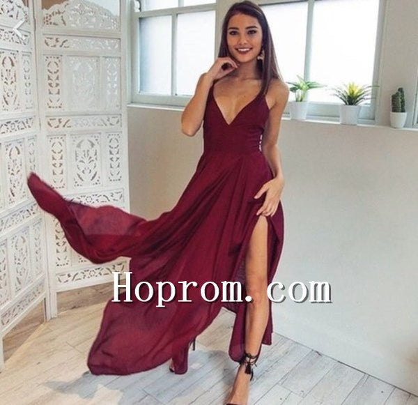 2020 Straps V-Neck A-Line Prom Dress Evening Dresses