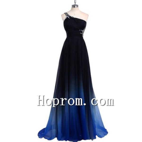 2020 One Shoulder Chiffon A-Line Prom Dress Evening Dresses