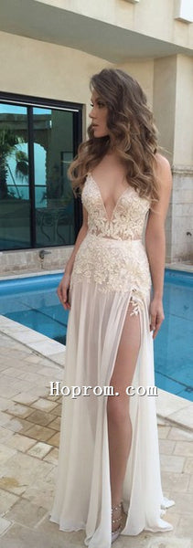 2020 V-Neck A-Line Sexy Prom Dress Evening Dresses