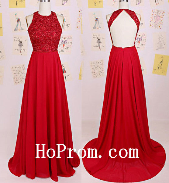 Elegant Red Prom Dresses,A-Line Prom Dress,Evening Dress