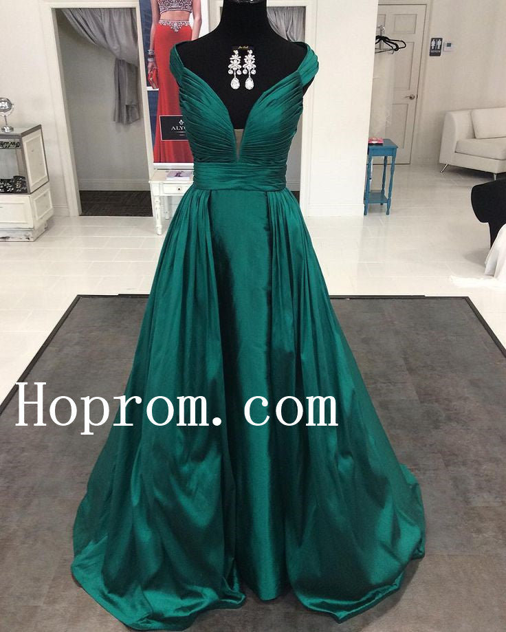 Off Shoulder Prom Dresses,Green Prom Dress,Evening Dress