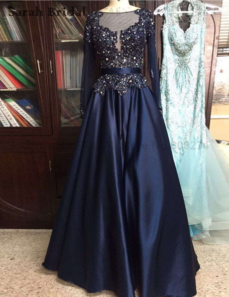 Plus Size Prom Dresses,Long Sleeve Prom Dress,Evening Dress
