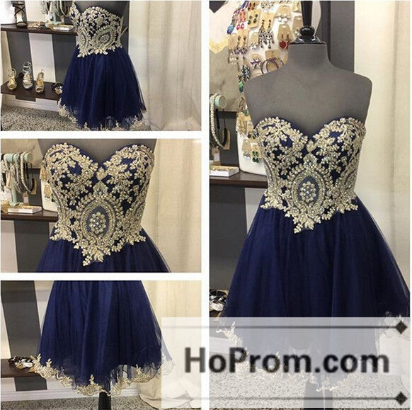 Elegant Short Sweetheat A-Line Prom Dresses Homecoming Dresses