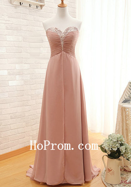 Beads Prom Dresses,Chiffon Prom Dress,Sweetheart Evening Dresses