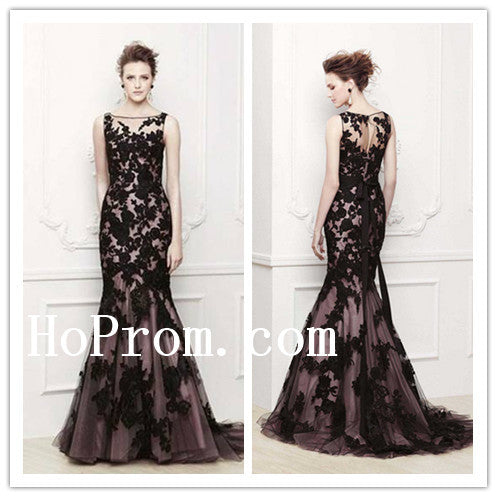 Elegant Mermaid Prom Dresses,Applique Prom Dress,Evening Dress