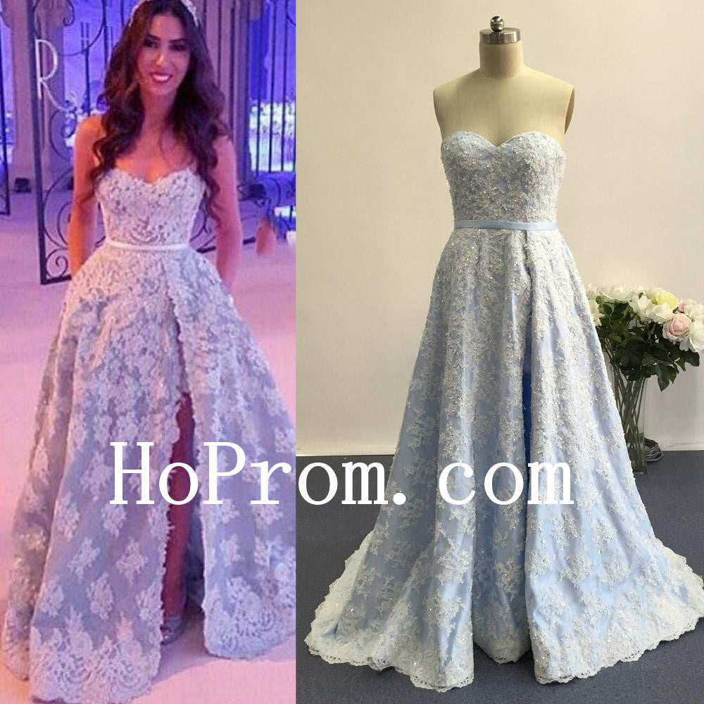 Sweetheart Slit Prom Dresses,Lovely Prom Dress,Evening Dress