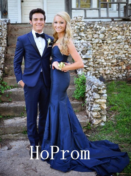 Strapless Satin Prom Dresses,Floor Length Prom Dress,Evening Dress