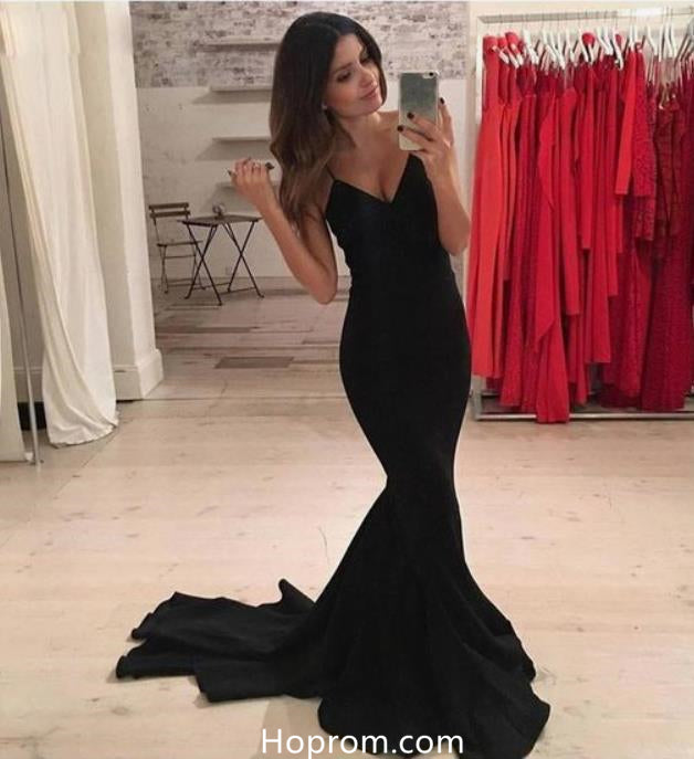 Sexy Spaghetti Straps Prom Dresses Sweetheart Mermaid Evening Formal