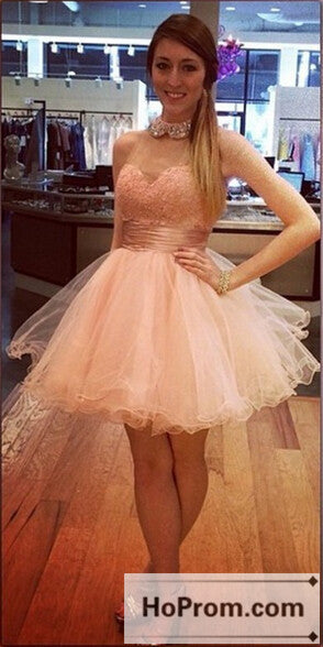 High Neck Short Tulle Prom Dresses Homecoming Dresses