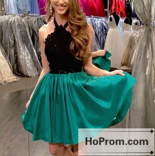 Sleeveless Short Taffeta Turquoise Prom Dresses Homecoming Dresses