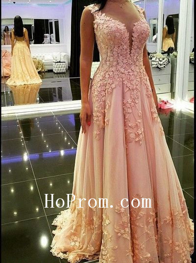 Lovely Applique Prom Dresses,Long Prom Dress,Evening Dress