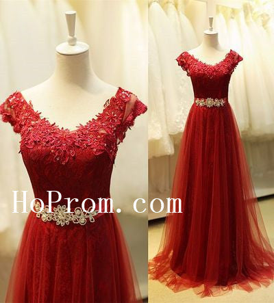 Red Prom Dresses,Long Prom Dress,Evening Dress
