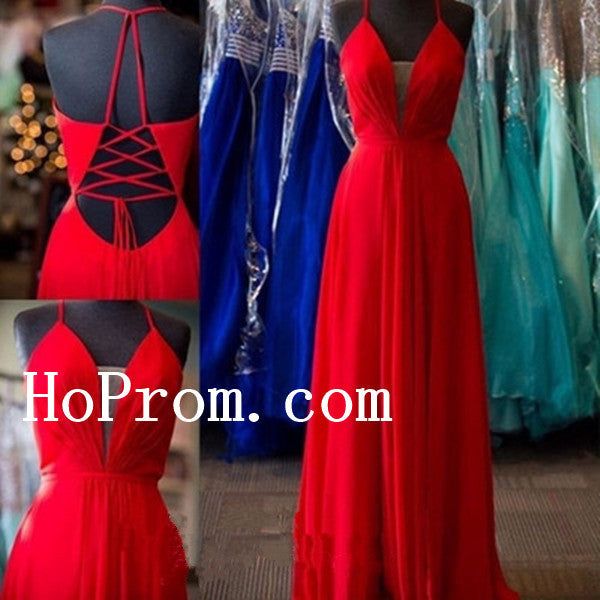 Red Prom Dresses,Long Prom Dress,Red Evening Dress