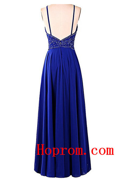 Popular Blue Prom Dress Halter Prom Dresses Evening Dress
