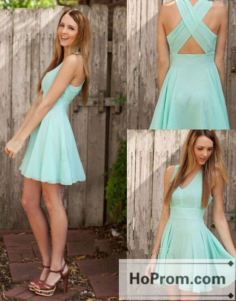 Sleeveless Chiffon A-Line Prom Dresses Homecoming Dresses