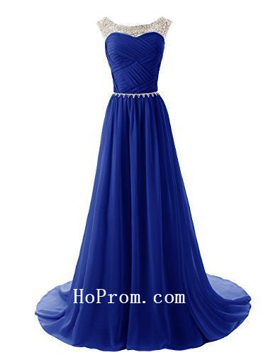 Long Prom Dresses,Royal Blue Prom Dress,Evening Dress