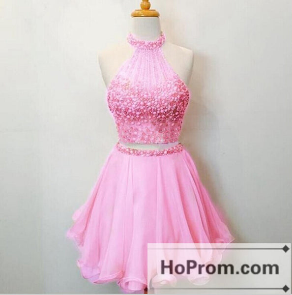 Stunning Two Piece Short Prom Dresses Homecoming Dresses