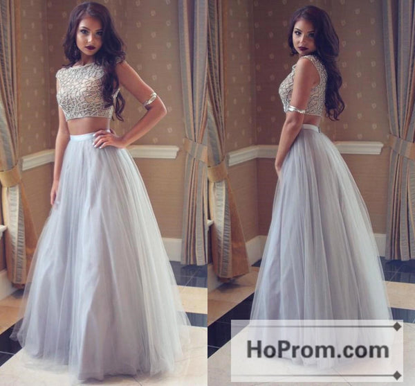 Long Beautiful Two-Pieces Prom Dress Evening Dresses