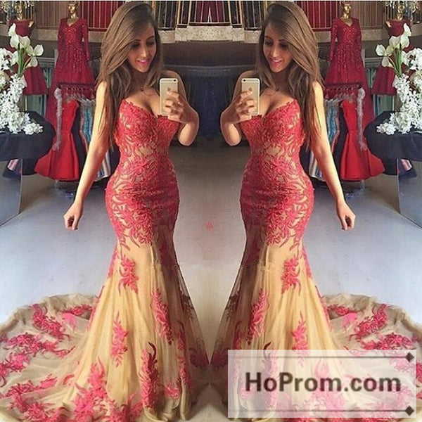 Tulle Sweetheart Elegant Mermaid Prom Dress Evening Dresses