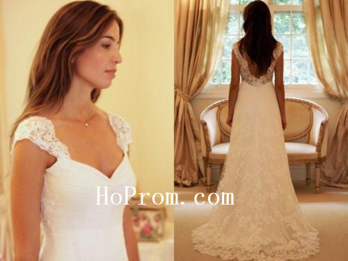 Long White Prom Dresses,Lace Prom Dress,Wedding Dress