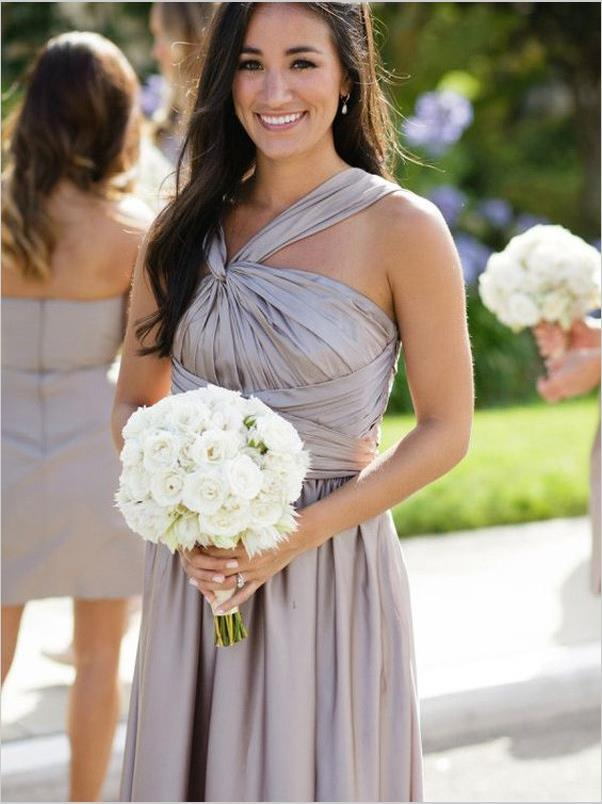 Princess Sleeveless Satin Bridesmaid Dresses Floor Length