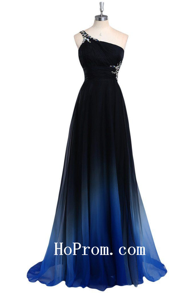 Straps Prom Dresses,One Shoulder Prom Dress,Evening Dress