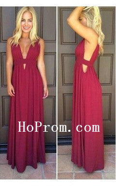 Simple Chiffon Prom Dresses,Long Prom Dress,Evening Dress
