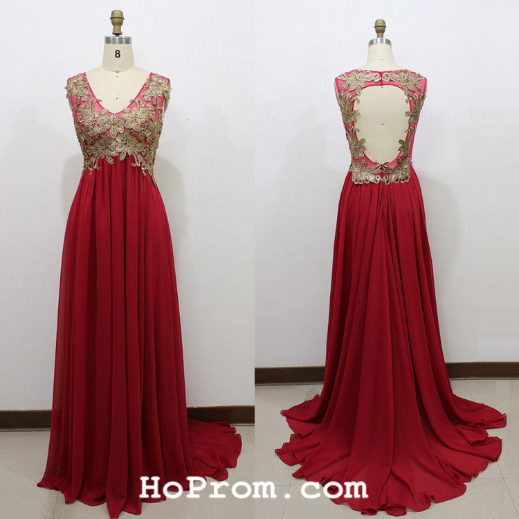 Red Prom Dresses Red Backless Evening Dresses