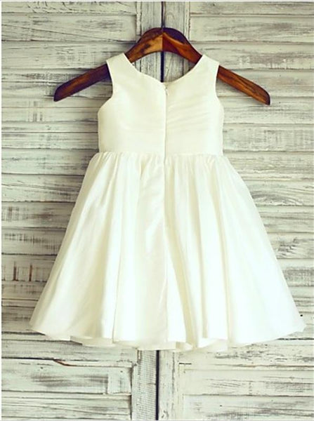 Chiffon Princess Scoop Sleeveless Flower Girl Dresses With Hand-made Flower