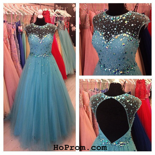 Long Prom Dresses Long Prom Dress with Beads Evening Dress