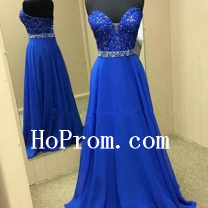 Sweetheart Blue Prom Dresses,A-Line Prom Dress,Evening Dress