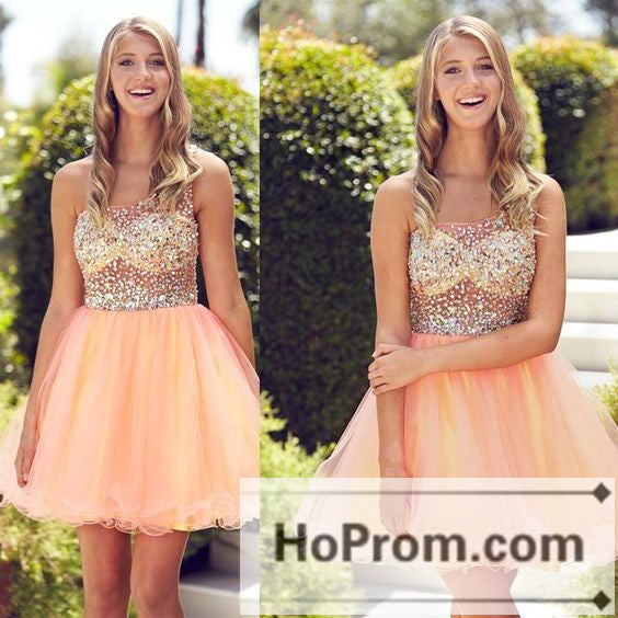 One Shoulder Beaded Short Prom Dresses Homecoming Dresses