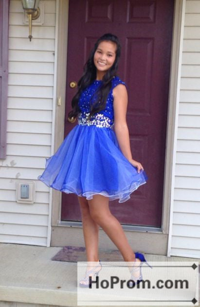 Royal Blue A-Line Short Prom Dresses Homecoming Dresses