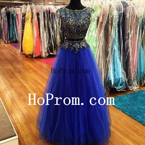 Elegant A-Line Prom Dresses,Blue Prom Dress,Evening Dress