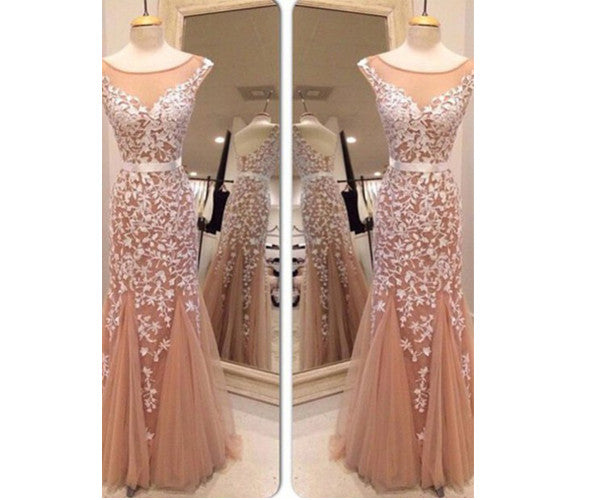 Applique Prom Dresses Long Prom Dress Applique Evening Dress