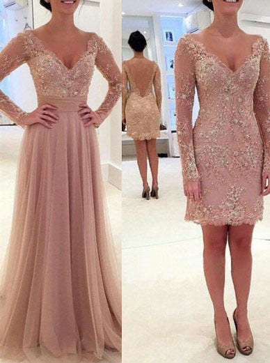 Long Sleeve Prom Dresses,Twinset Prom Dress,Evening Dress
