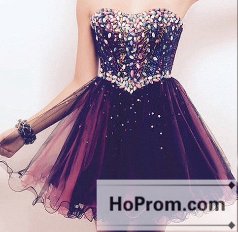Elegant Short Sweetheart Mini Prom Dresses Homecoming Dresses