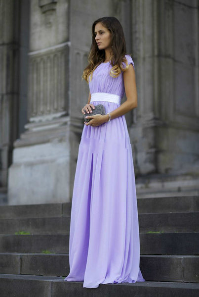 A-Line Simple Prom Dresses,Lavender Prom Dress,Evening Dress