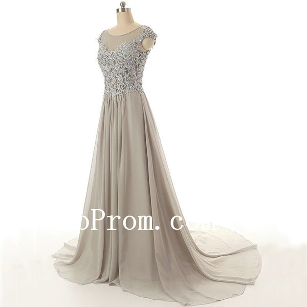 Elegant Applique Prom Dresses,A-Line Prom Dress,Evening Dress