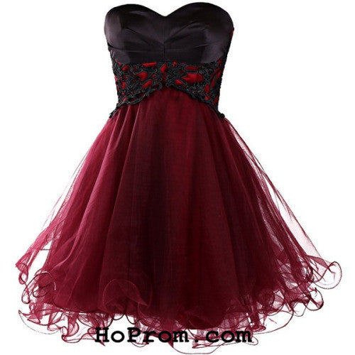 Short Wine Red Prom Dress Short Prom Dresses Cocktail Dress