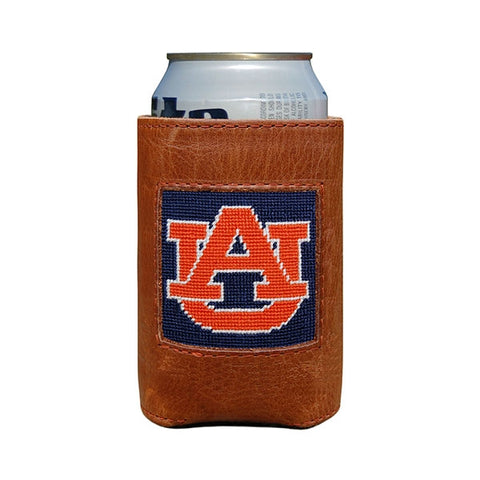 Smathers & Branson Needlepoint Auburn Can Cooler
