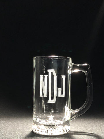 13 Ounce Beer Stein Glass