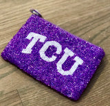 TCU Beaded Coin Purse