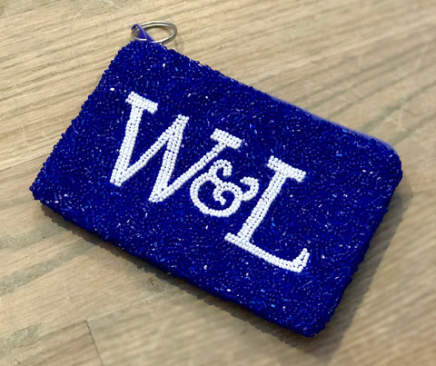 Washington and Lee Beaded Coin Purse