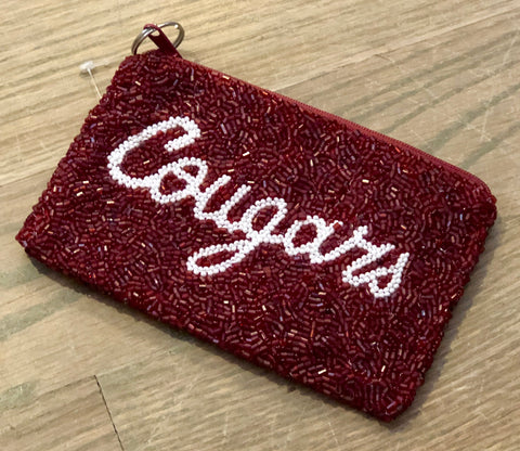 Cougars Beaded Coin Purse