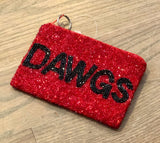 University of Georgia Beaded Coin Purse